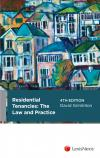 Residential Tenancies - Law and Practice, 4th edition cover