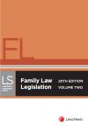 Family Law Legislation, 20th edition cover