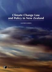 Climate Change Law and Policy in New Zealand cover