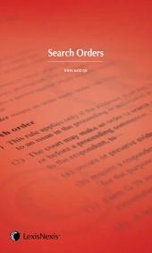 Search Orders Handbook (eBook) cover