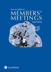 Members' Meetings, 3rd edition (eBook) cover
