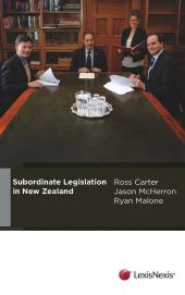 Subordinate Legislation in New Zealand (eBook) cover