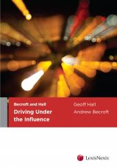 Becroft and Hall: Driving Under the Influence cover