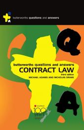 Butterworths Q&A: Contract Law, 3rd edition cover