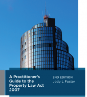 A Practitioner's Guide to the Property Law Act 2007, 2nd edition cover