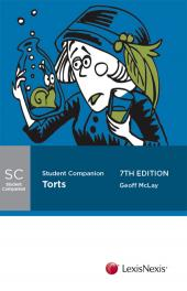 Butterworths Student Companion: Torts, 7th edition cover