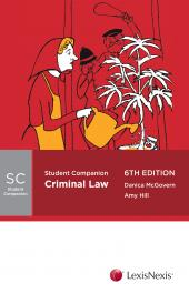 Student Companion: Criminal Law, 6th edition cover