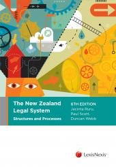 The New Zealand Legal System: Structures and Processes, 6th edition (eBook) cover