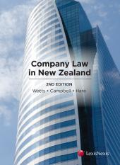 Company Law in New Zealand, 2nd edition (eBook) cover
