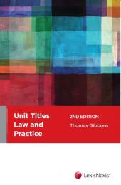 Unit Titles Law and Practice, 2nd edition cover