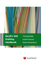 Nevill's Will Drafting Handbook, 7th edition (eBook) cover