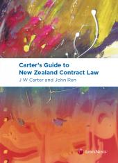 Carter's Guide to New Zealand Contract Law cover