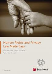 Human Rights and Privacy Law Made Easy 2017 cover
