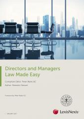 Directors and Managers Law Made Easy 2017 cover