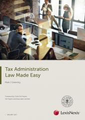 Tax Administration Law Made Easy 2017 (eBook) cover