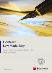 Contract Law Made Easy, September 2017 (eBook) cover