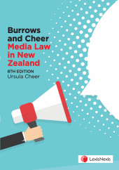 Burrows and Cheer Media Law in New Zealand, 8th edition cover
