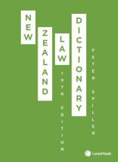 New Zealand Law Dictionary, 10th edition cover