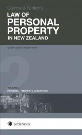 Garrow and Fenton's Law of Personal Property in New Zealand, 7th edition - Volume 2 - LN Red Book cover