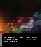 Burrows and Carter on Statute Law in New Zealand, 5th Edition - LN Red Book cover